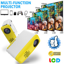 Портативный проектор мини-проектор 1080P проектор для домашнего кинотеатра образовательная конференции светодиодный проектор медиаплеер UK/US/EU/AU Plug