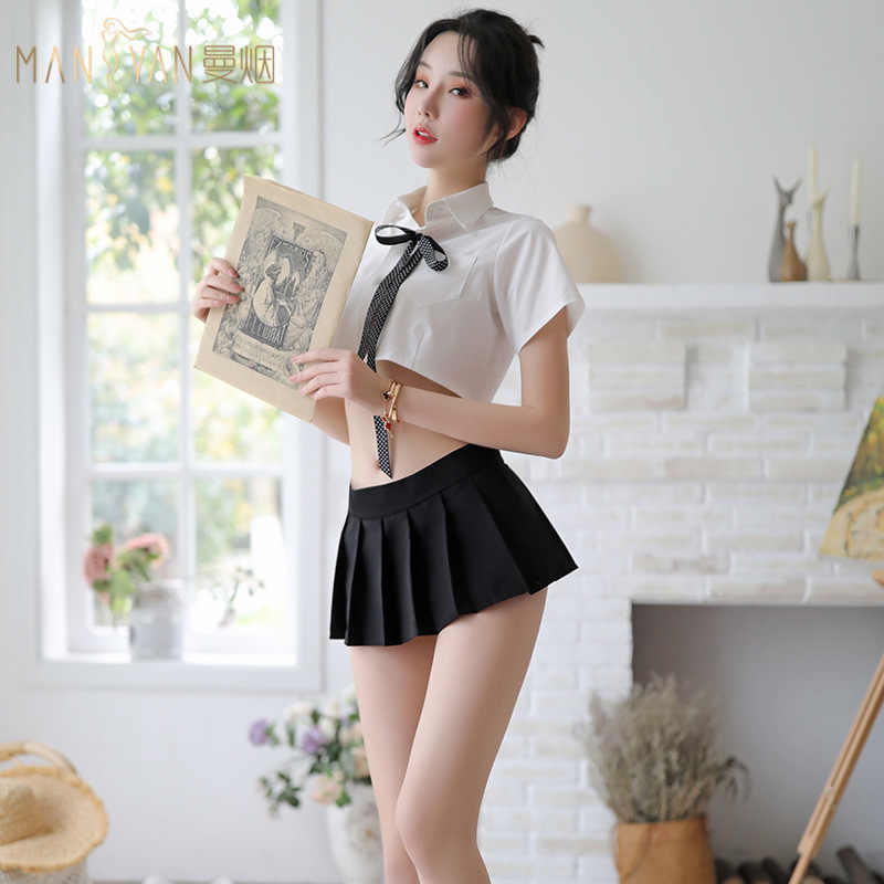 Role playing Game Clothes Sexy Japanese School Cosplay Student Uniform  Attracts Women Set Romantic Lingerie Porno Sexy Underwear| | - AliExpress