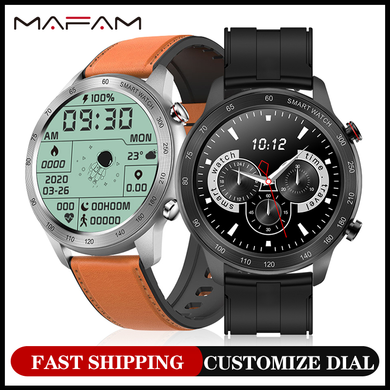 MAFAM MX5 вызовов через Bluetooth Смарт-часы для мужчин и женщин, воспроизведение музыки длительное время автономной IP68, водонепроницаемые Смарт-ча...