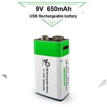 9 в 650 мАч литиевая аккумуляторная батарея с usb зарядкой В