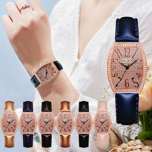 Часы наручные Meibo Женские кварцевые, Модные с ремешком из искусственного материала, с пряжкой с язычком, кварцевые