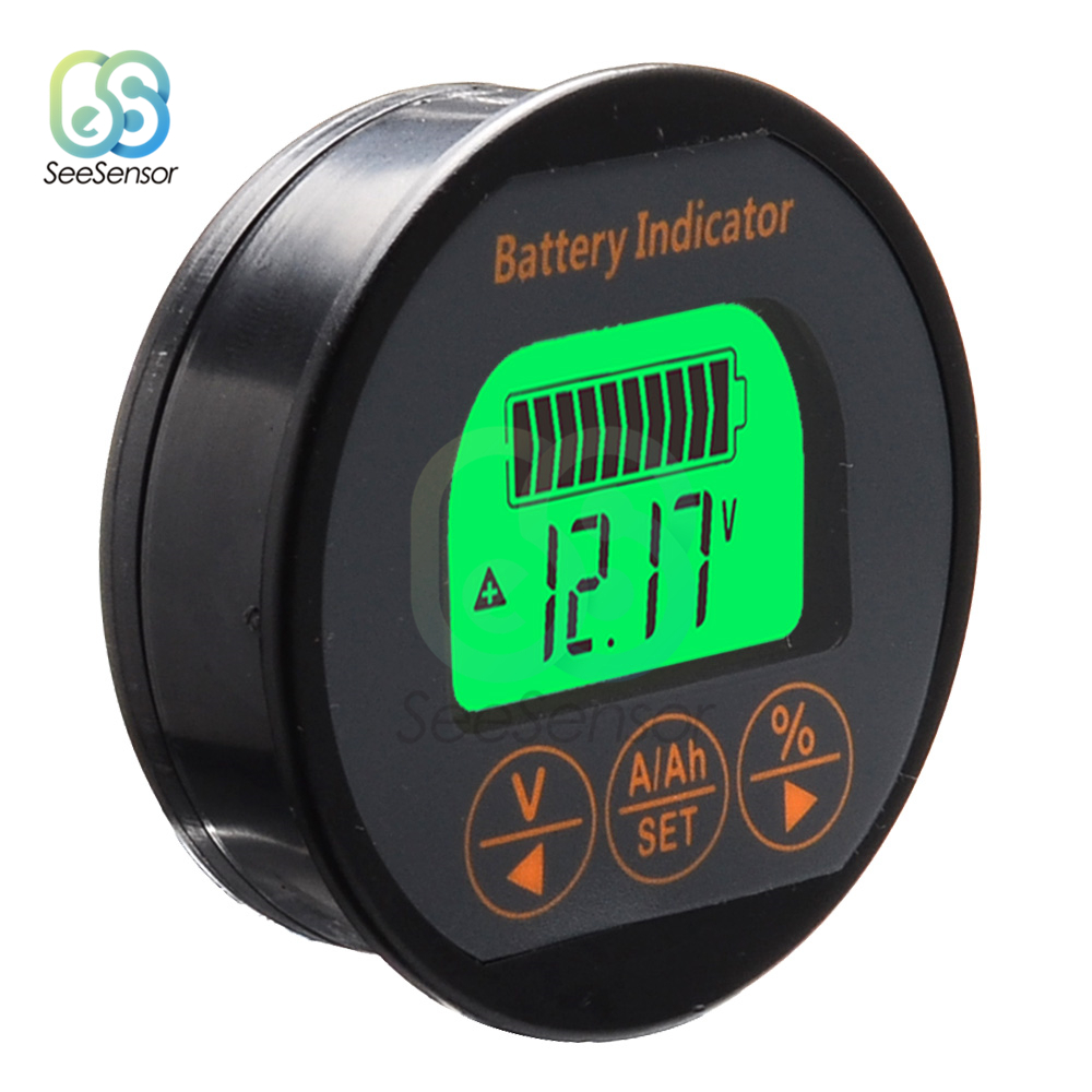 Battery Capacity Tester DC8-80V 50A 100A 350A TR16 Battery Capacity Indicator Ammeter Voltmeter For Li-ion Lithium Batteries