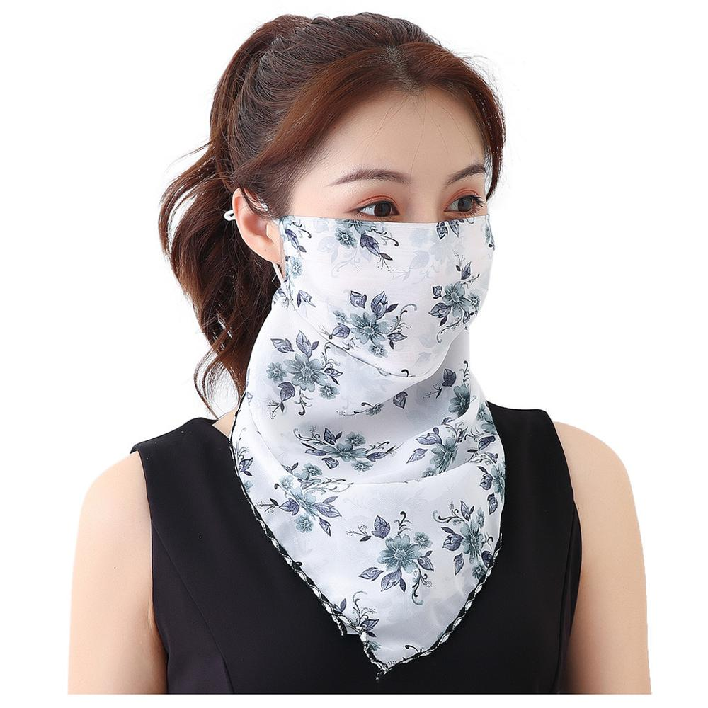Women's Protective Washable Cotton Scarf Mask 1