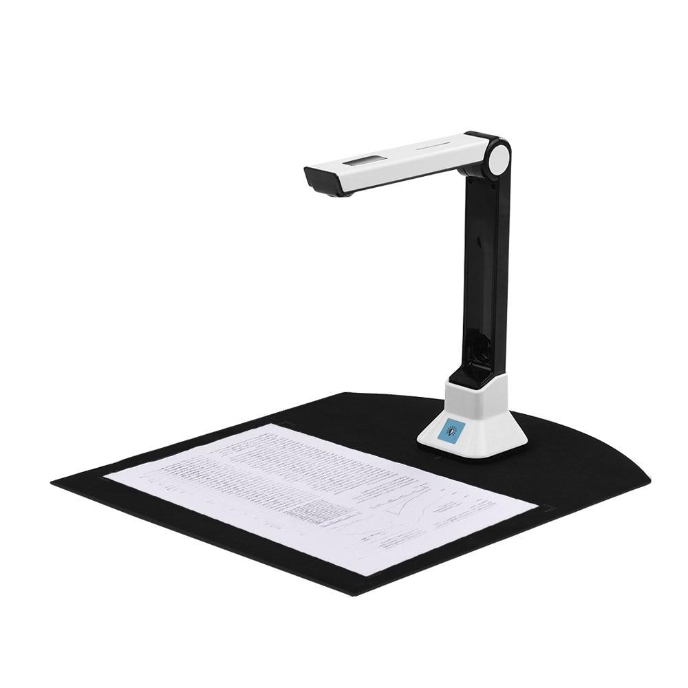 BK50 Portable 10 Mega-pixel High Definition Book Scanner Capture Size A4 Document Camera for File Recognition Scanner