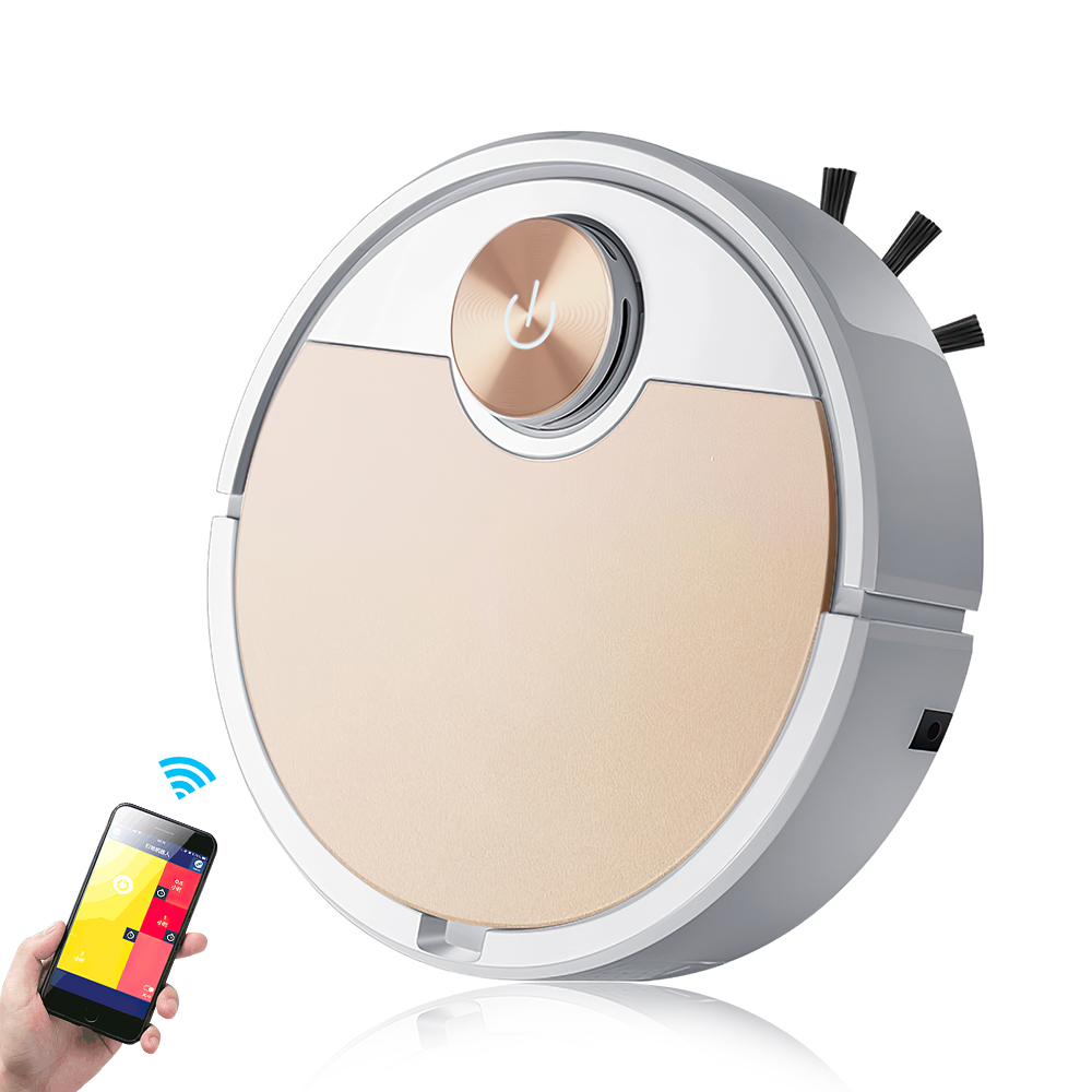 Robot Vacuum Cleaner Mobile Phone APP Remote Control Smart Vacuum Cleaner Automatic Dust Removal and Sterilization Sweeper