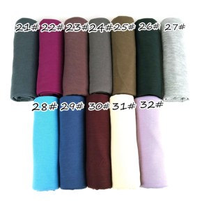 Image 5 - J1  10pcs 35color High quality jersey scarf cotton plain elasticity shawls maxi hijab long muslim head wrap long scarves/scarf