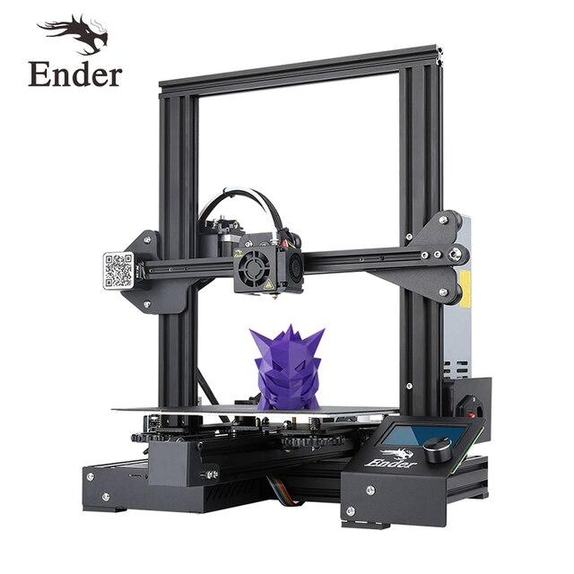 $ US $239.00 Ender-3 PRo 3D printer DIY Kit  Large Size I3 mini ender-3pro printer 3D Continuation Print Power Creality 3D