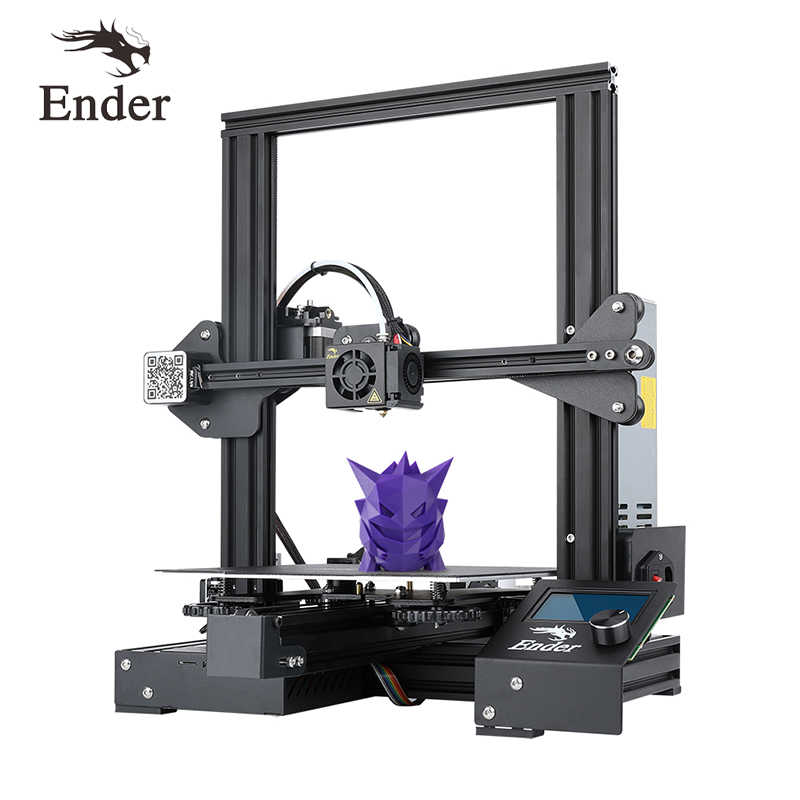 Ender-3 PRo imprimante 3D kit de bricolage grande taille I3 mini ender-3pro imprimante 3D Continuation impression puissance crealité 3D