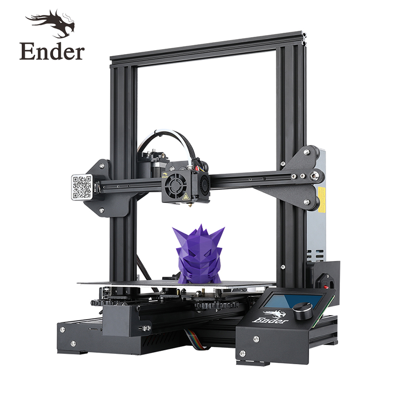 Ender-3 pro impressora 3d kit diy tamanho grande i3 mini ender-3pro impressora 3d continuação de impressão potência creality 3d