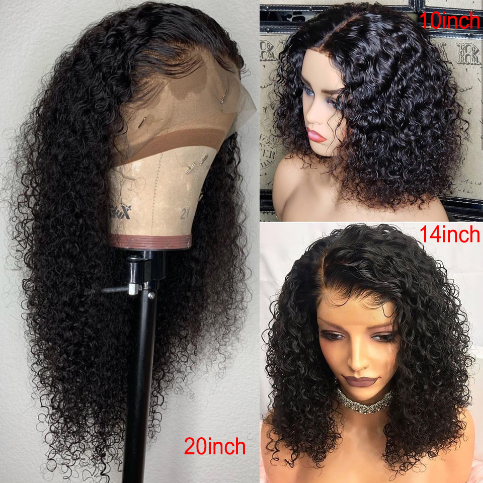 150% Density 360 Lace Frontal Wig For Women Brazilian Remy Hair Pre Plucked Natural Curly Human Hair Wigs Bleached Knots