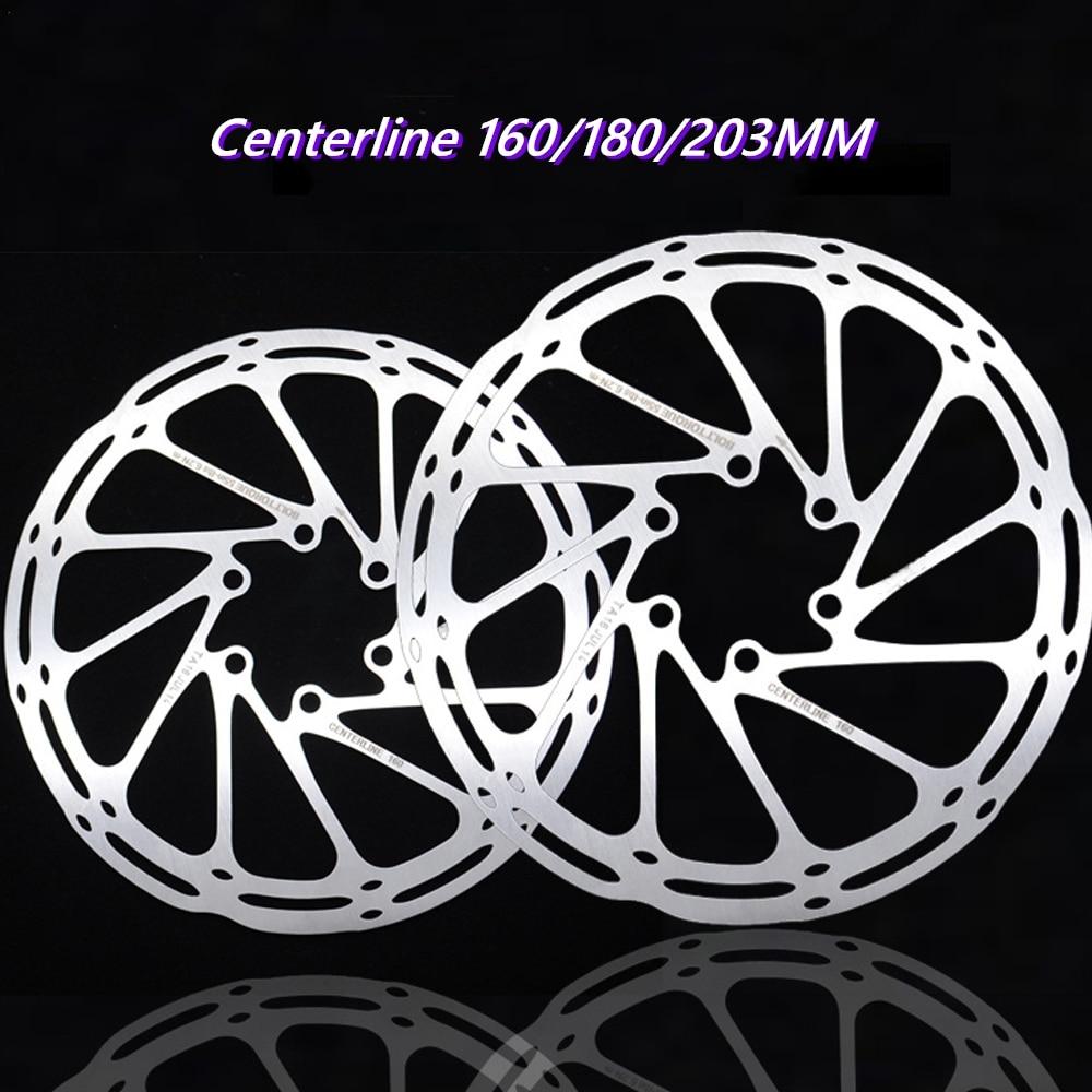 Ротор дискового тормоза для горного и дорожного велосипеда, Центральная линия из нержавеющей стали 160/ 180/203 мм, велосипедные гидравлические ...