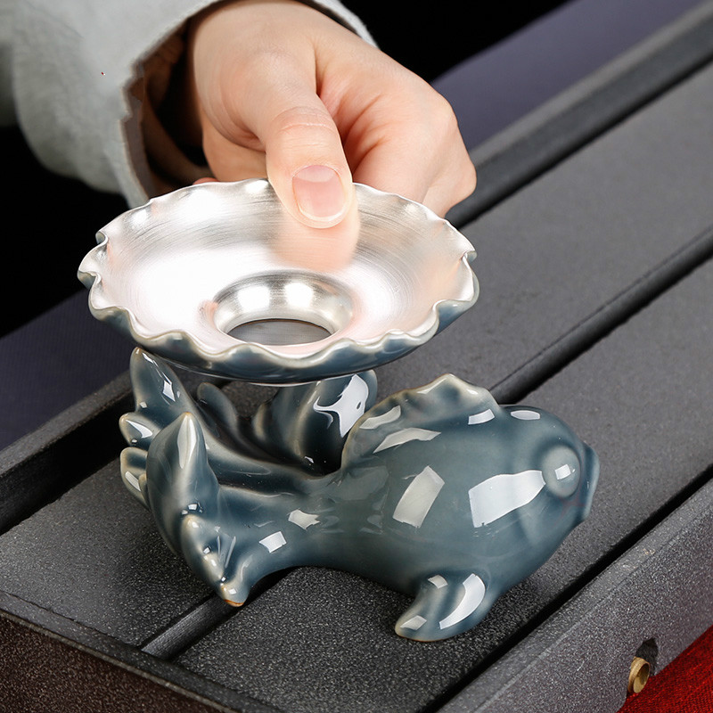 Goldfish Tea Leak Silver Tea Strainer Silver Creative Cute Handmade Tea Set Accessories Sterling Silver Tea Follicle Tea