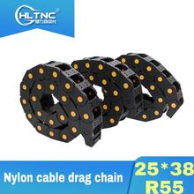 Cable Drag-Chain Router for CNC 3-Axis Cnc-Part R55 1-Meter And Free Nylon 25--38 3pcs