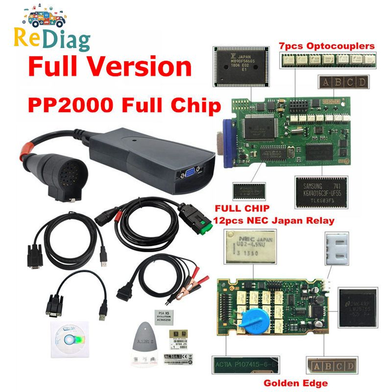 Lexia 3 PP2000 puce complète Diagbox V7.83 avec Firmware 921815C Lexia3 V48/V25 pour Citroen pour Peugeot OBDII outil de diagnostic