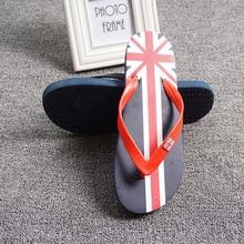 2021 Summer Men Flip Flops Fashion New Tide Outdoor Sandals Flag Design Slippers Cozy Flat Bottom Slip Beach Shoes