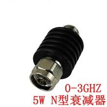Коаксиальный неподвижный радиочастотный аттенюатор N-типа 5 Вт, штырь-гнездо, частота DC-3GHz 4 ГГц, 1-40 дБ