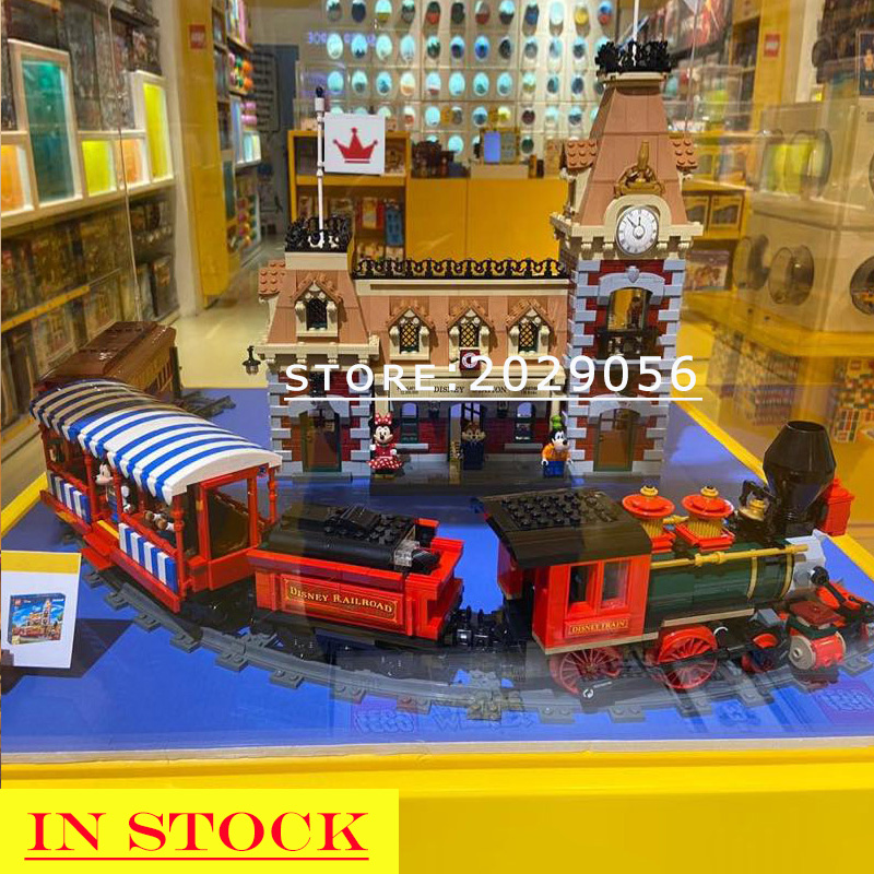 J11001 71044 In Stock Building Blocks Ideas Series Train And Station Bricks Model Kid Toy Children Fairy Tales Playground
