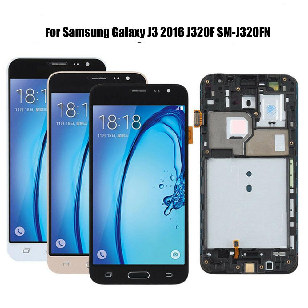 <font><b>LCD</b></font> Touch Screen Digitizer Assembly for <font><b>Samsung</b></font> Galaxy J3 2016 J320F <font><b>SM</b></font>-<font><b>J320FN</b></font> Phone Replacement <font><b>LCD</b></font> Display Touch Screen + Tool image