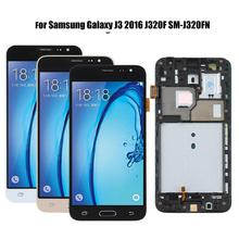 LCD Touch Screen Digitizer Assembly per Samsung Galaxy J3 2016 J320F SM J320FN Del Telefono Display LCD di Ricambio Touch Screen + Strumento