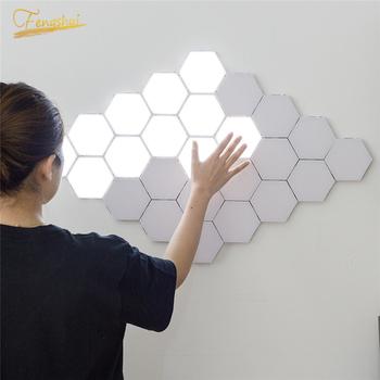 Lampa kwantowa nowoczesne oświetlenie nocne LED modułowe dotykowe światło dotykowe oświetlenie LED nocne światło magnetyczne DIY dekoracja wnętrz tanie i dobre opinie JAXLONG Night Light Serce 5 27Q Noc światła Z tworzywa sztucznego NONE Żarówki led Touch 110 v 12 v 24 v 36 v 90-260 v