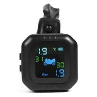 5 v motocicleta tpms pneu de pressão sem fio monitor sensor kit alta precisão