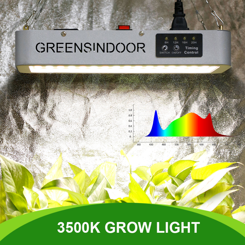 Grow Tent 3500K Led Light 3000W Full Spectrum Phyto Lamp For Plants Indoor Flowers Timer Daisy Chain
