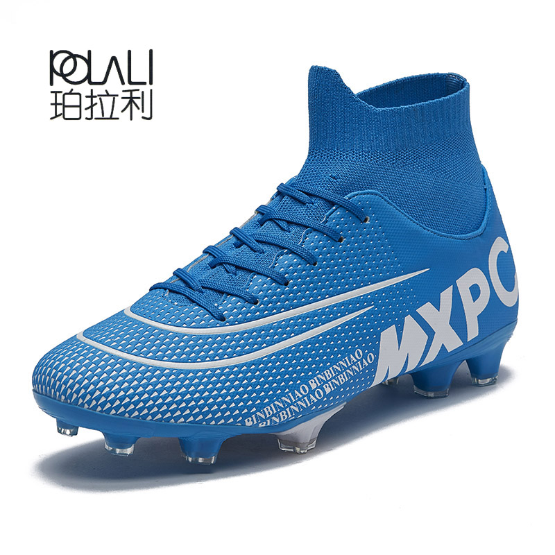 New Soccer Shoes FG Outdoor Football Boots Spike Athletic Training Cleats 10