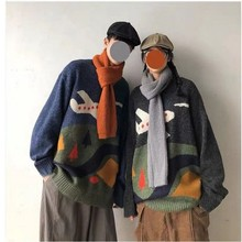 NiceMix 2020 Knitted Striped Sweater Kid Painting Mens Hip H