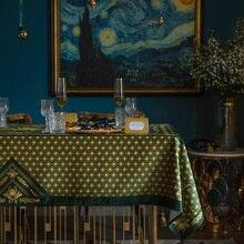 Mantel lujoso ins Vintage estilo europeo Mesa Redonda mantel de comedor personalizado TV gabinete mesa de té Mesa bandera cubierta toalla