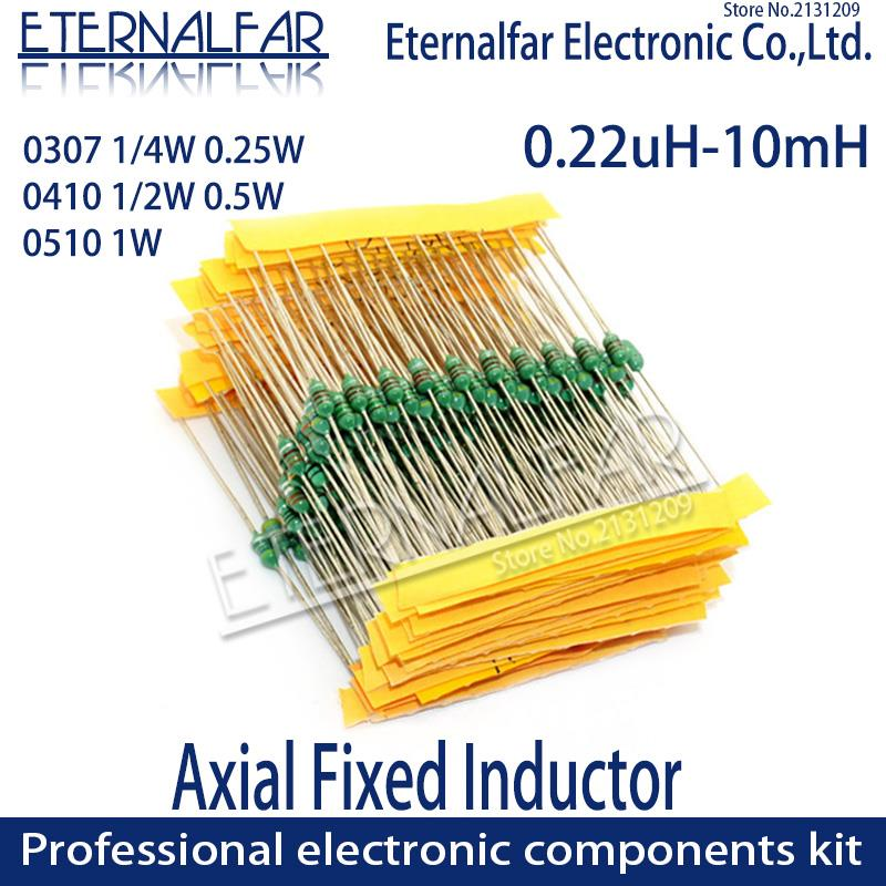 0307 1/4W 0410 1/2W 0510 1W Couleur inductances Annulaires DIP D'inductance 0.22uH 10mH 1 2.2UH 3.3 4.7UH 10 22 33UH 47 68 100 220 330 euh mH