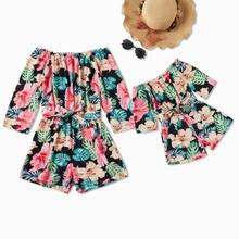 Одинаковая одежда с открытыми плечами для мамы и меня; Платье;