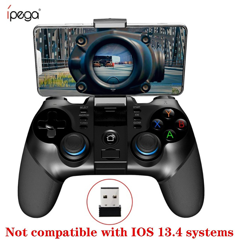 iPega 9156 9157 Bluetooth Gamepad Support iPhone Controller Flexible Joystick with Phone Holder For Android iOS PC TV Box