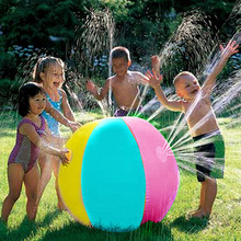 Inflatable PVC Water Spray Beach Ball for Outdoor Lawn Summer Game Children's Toy Ball Water Jet Ball with Family activity game inflatale beach ball water walking ball inflatable bubble water ball