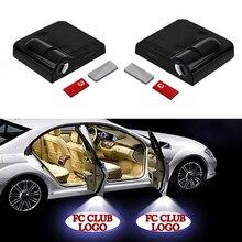 1 шт. беспроводной светодиодный Автомобильный Дверной проектор, лазерный проектор, логотип, призрачный теневой светильник, автомобильный Стайлинг, Автомобильный Дверной светильник, автомобильные аксессуары
