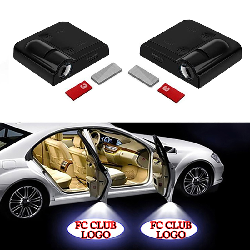 1pcs Wireless Led Car Door Welcome Laser Projector Logo Ghost Shadow Light Car Styling car welcome door light Car Accessories