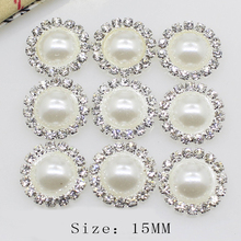 Buttons Decoration Pearl DIY Hand-Sewn Needlework with 10pcs/lot15mm
