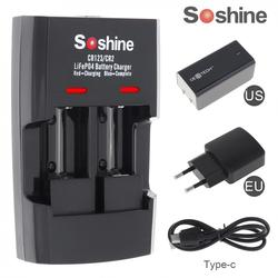 Soshine Li-FePO4 RCR 123 / CR2 Battery Intelligent Rapid Chargers for 16340 / 15266 / 14250 Battery