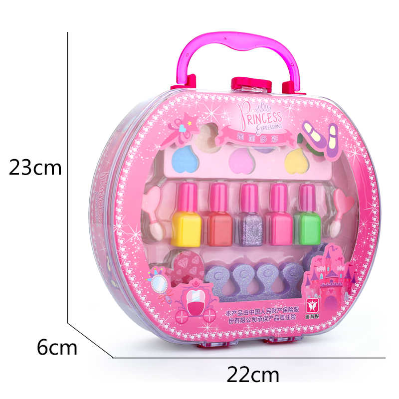 Las chicas de moda hacer juguete de esmalte de uñas, pretender jugar princesa Rosa maquillaje seguridad no tóxico juguete chica la Princesa sueño regalo