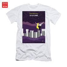 No756 Il Mio La La Land Minimo Movie Poster T-Shirt La Lala Land Damien Ryan Gosling Emma Stone Hollywood Jazz(China)