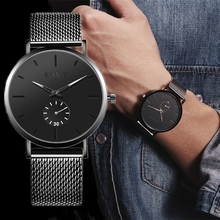 SOXY Men Wristwatch 2020 Simple Black Move Dial Steel Watchbands Sport Clock Fashion Casual Colour Hands Quartz Minimalist Watch soxy relogio wat1316