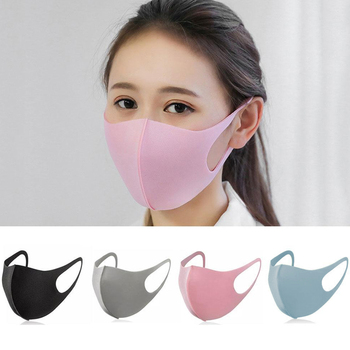 Women Washable Mouth Mask Cotton Cute PM2.5 Anti Haze Adult Dust Mask Nose Filter Windproof Face Muffle  Flu Respirator