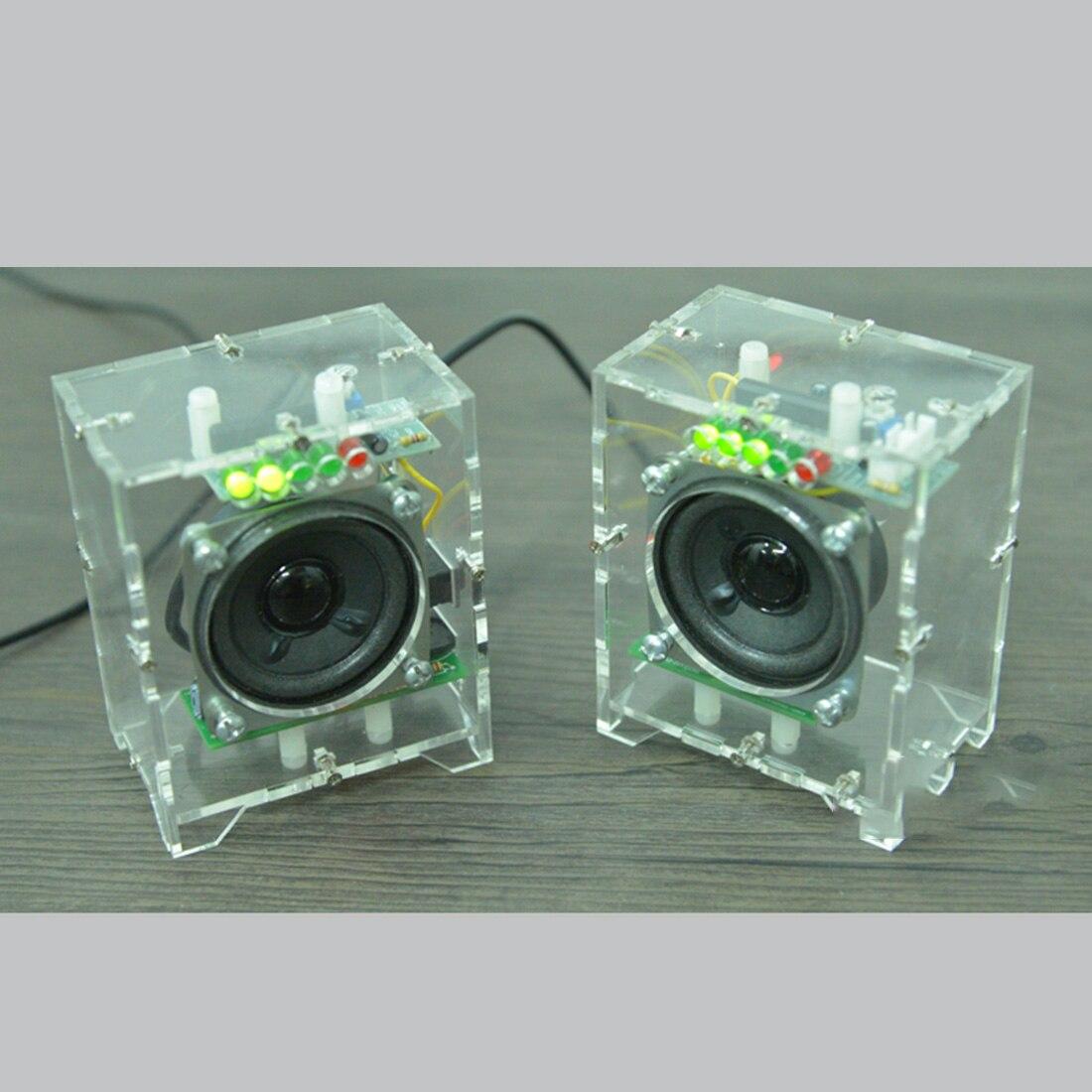 2 pcs diy mini alto falante kit mp3 04