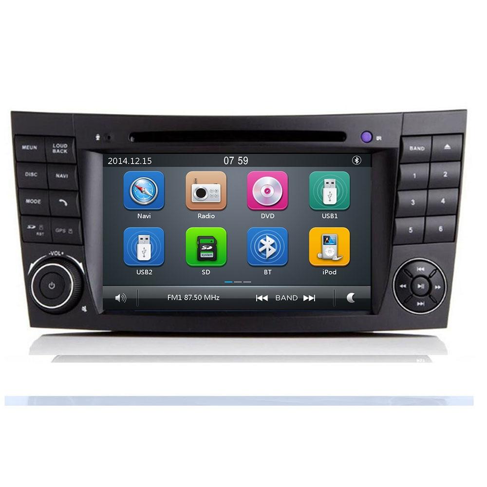 2Din voiture multimédia pour Mercedes Benz classe E W211 E200 E220/classe G W463 CLK-classe W209 CLS-classe W219 Radio GPS Navi SD