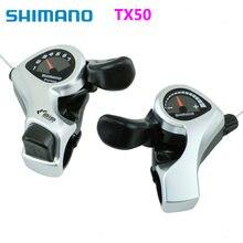 Shimano tx50 shifter SL-TX50 alavanca de mudança bicicleta 3 6 7s 18 21 velocidade mtb bicicleta shifter gatilho interruptor esquerda/direita cabo 3x 6/3x7