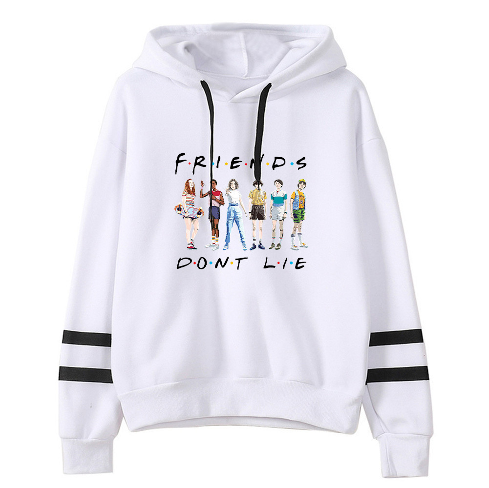 Stranger Things Hoodies Women Printed Friends Hooded Sweatshirt Korean Clothes Winter Kawaii Unisex Funny Harajuku Tracksuit