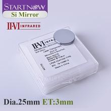 II-VI инфракрасный лазер Si зеркальный светоотражающий объектив Dia. 25 мм толщина 3 мм Co2 лазерный отражатель для CO2 резки гравировальный станок