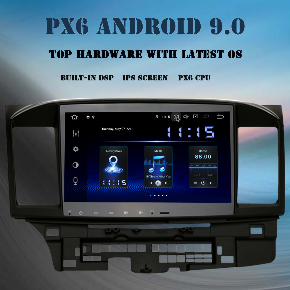 "10.2/"" Android 9.0 Car GPS Stereo Radio Headunit for Mitsubishi Lancer EVO"