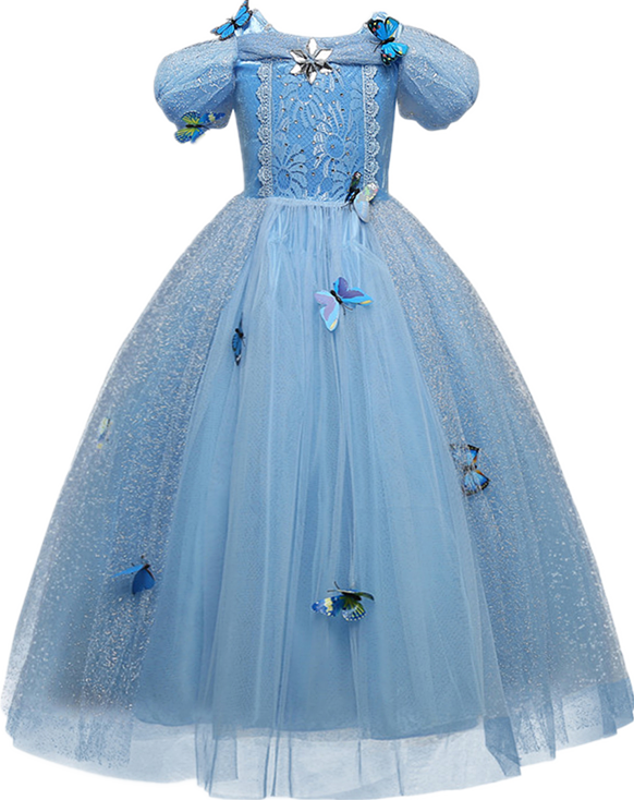 Princess Cosplay Costume Dresses For Girls Party Clothing Kids Children Dress Up 6