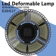 LED E27 déformé Garage lumière AC100-277V lampe à LED E26 ampoule 60W 80W 100W 120W LED lampe étanche pour Garage entrepôt éclairage