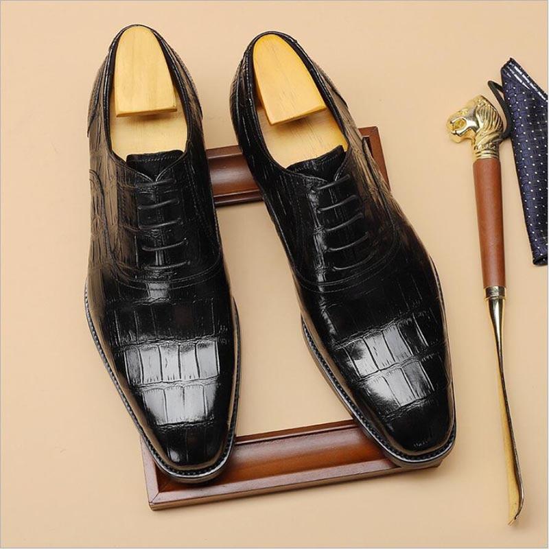 Sipriks Printed Crocodile Skin Dress Shoes For Men Wine Red Formal Tuxedo Oxfords Italian Handmade Blake Alligator Skin Flats 44